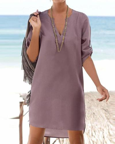 Short Tunic Shirts Summer Mini Dress