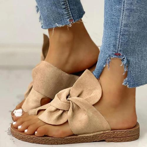 Women Bowknot Beach Comfy Flat Sandals