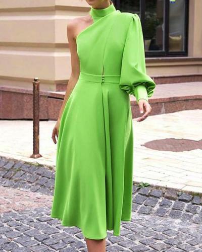 Paneled Evening Elegant Midi Dress