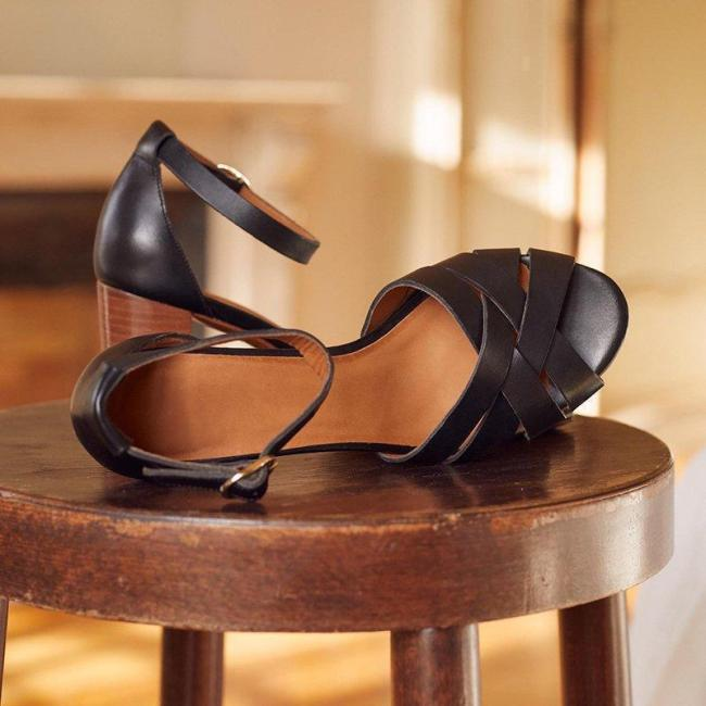 Women Ankle Chunky Heels Sandals