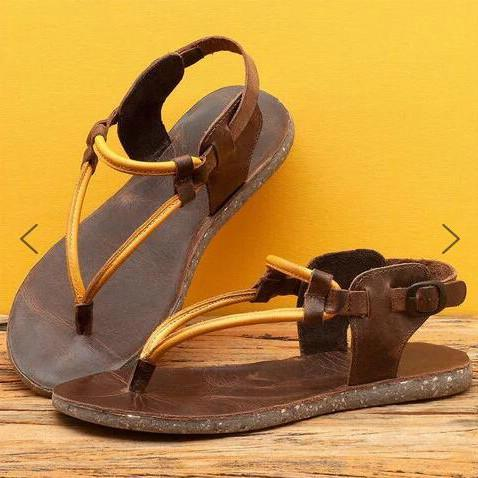 2020 New Fashion Women's Vintage Flip Thong Flat Sandals
