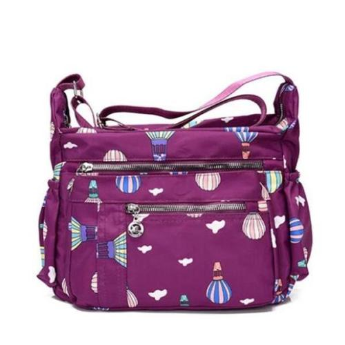 Classic Nylon Print Waterproof Multifunctional Multi-pocket Zipper Crossbody Bags