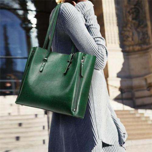 2019 New Stay Women Casual Shopping Multifunction Handbag Solid Shoulder Bag