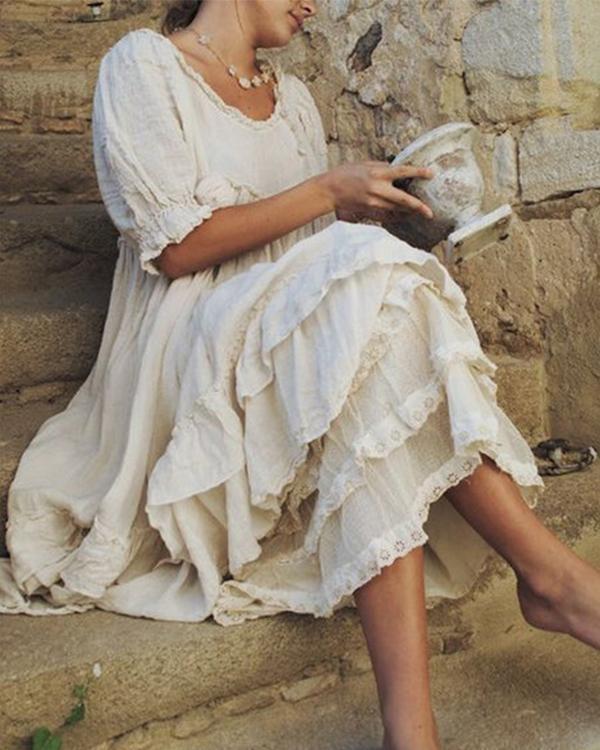 Women's Temperament Lace Maxi Dress