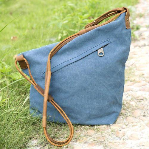 Women Vintage Messenger Bag Genuine Canvas Crossbody Bag Tribal Rucksack
