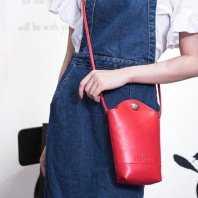 Casual Little Bucket Bag Phone Bag PU Crossbody Bag