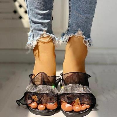 Fashion lace simple beach slippers
