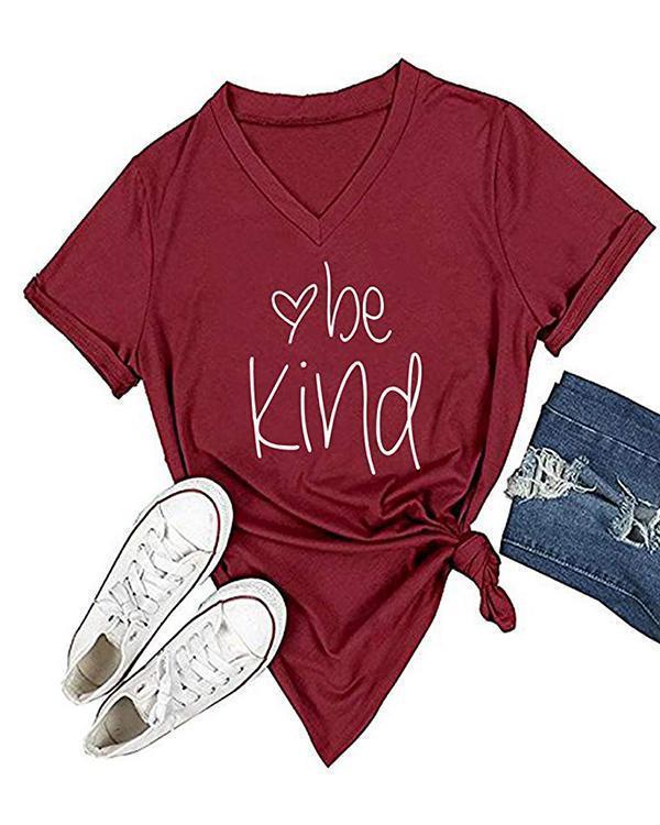 Womens T Shirt Casual Cotton Short Sleeve V-Neck Graphic T-Shirt