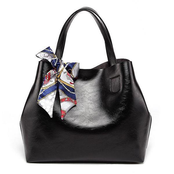 2019 New Style 2 PCS Women PU Leather Handbag Shoulder Bag