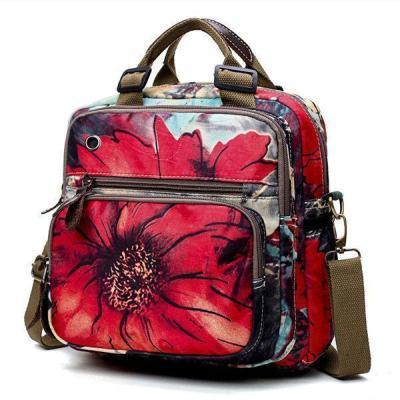 Outdoor Flower Pattern Backpack Crossbody Bag