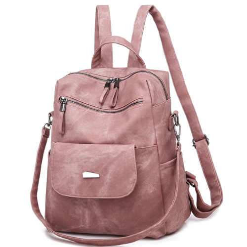 2020 Woman New And Fashional PU Retro Backpack