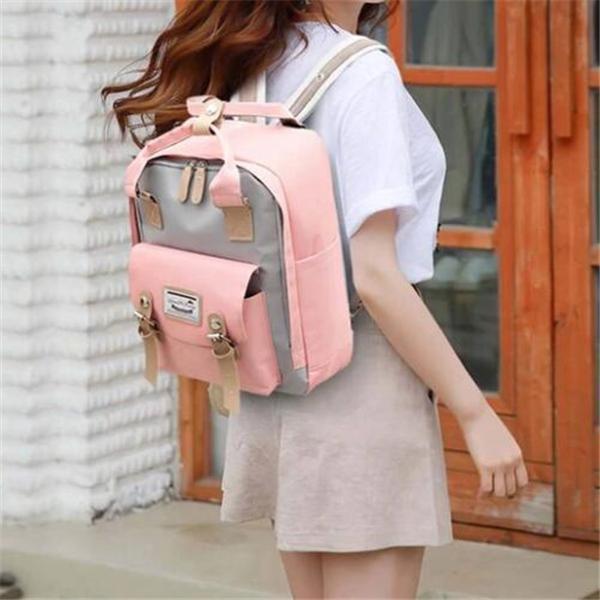 Large Capacity Multi-pocket Oxford Women Backpack Laptop Bag