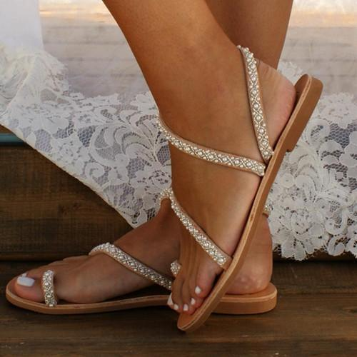 Women Summer Handmade Flip Flops Beach Wedding Sandals