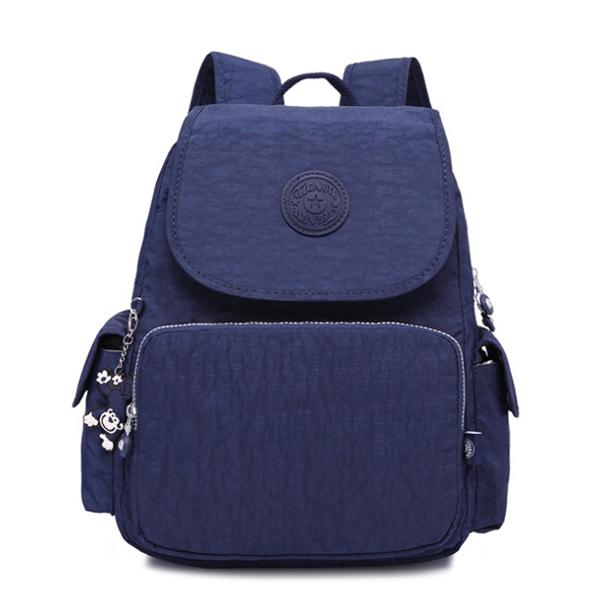 Waterproof Nylon Casual Multi Pockets  School Bag Travel Backpack
