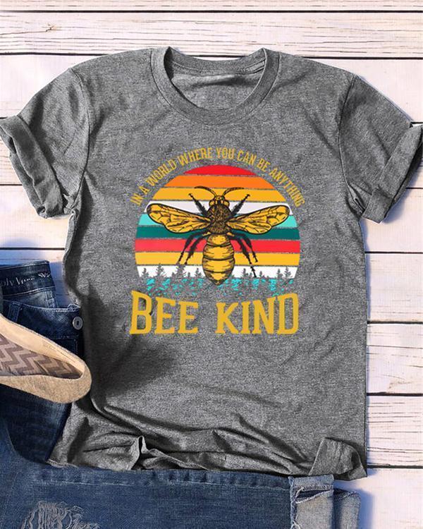 Bee Kind Women Casual TShirt Tops