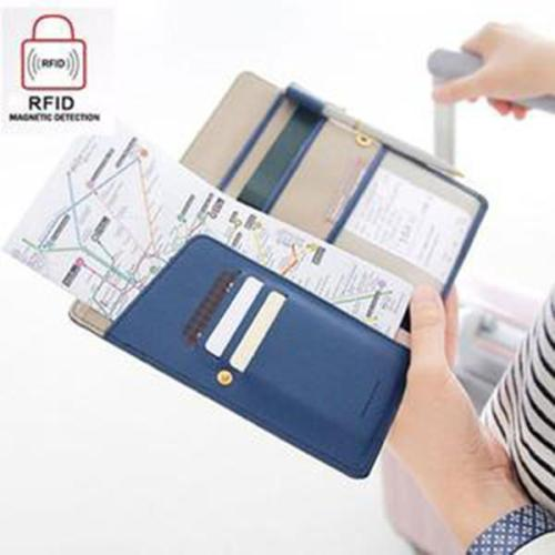 Women Men Outdoor Multifunctional Must-have Passport Bag Wallet