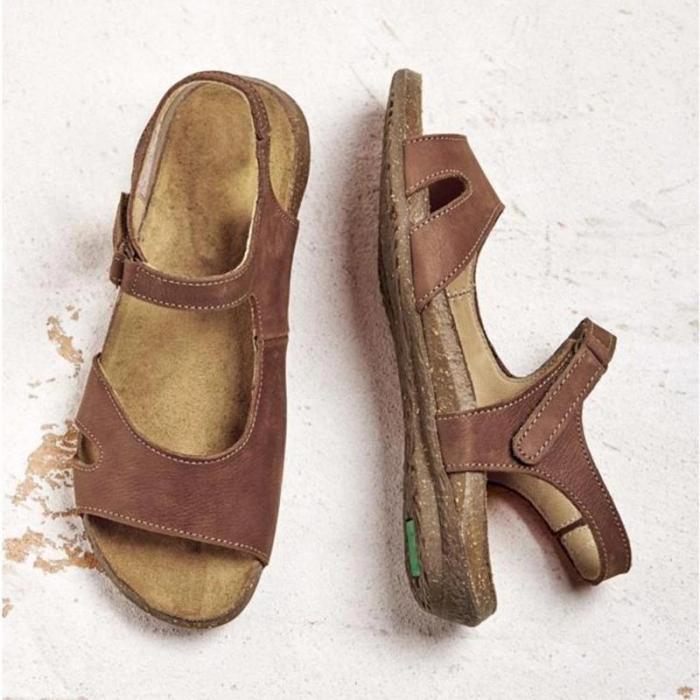 Comfy Magic Tape Sandals Soft Sole Flat Sandals