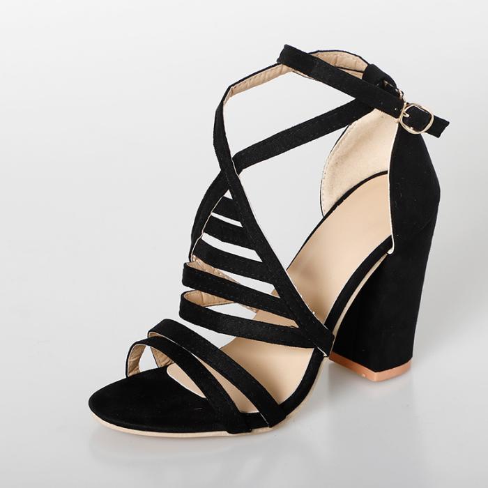 2020 Summer High Heels Ankle Buckle Strap Women's Cross Strap Sandals