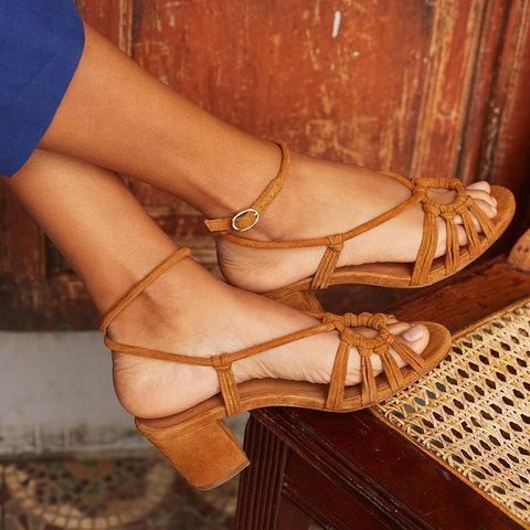 Women Ankle Strap Chunky Heels Sandals