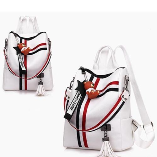Women's Backpack Stylish Color Block Large Capacity Bag