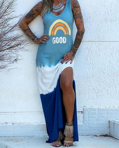 Casual Color Block Short Sleeve Dresses