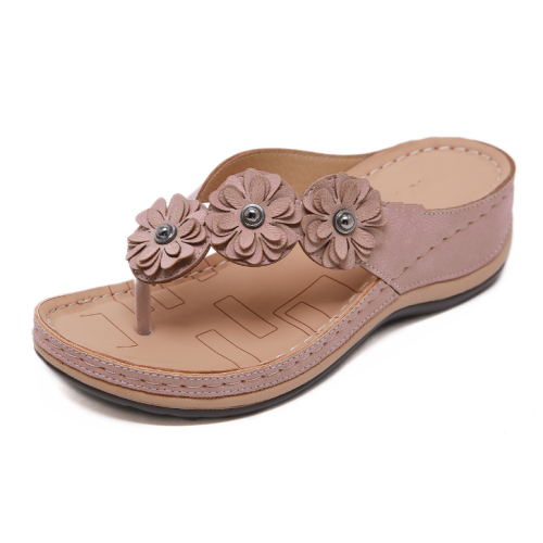 2020 New And Fashional Woman Flower Seaside Anti-slip Sandals