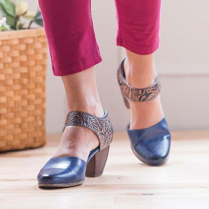 Women Daily Summer Artificial Leather Vintage Sandals
