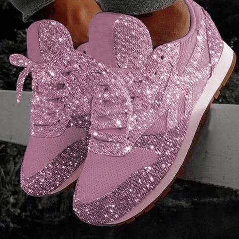 Women Muffin Rhinestone New Crystal Platform Sneakers