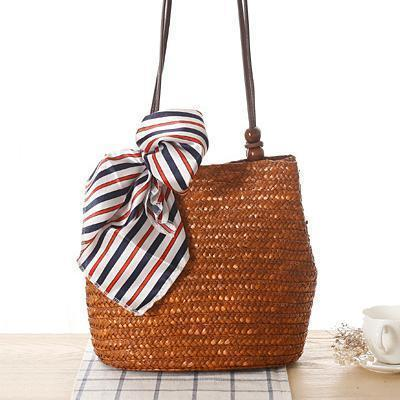 2019 New Style Straw Handbags Retro Shoulder Bags