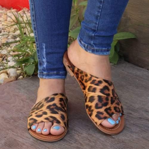 Women Sexy  Peop Toe  Leoparde Sandals