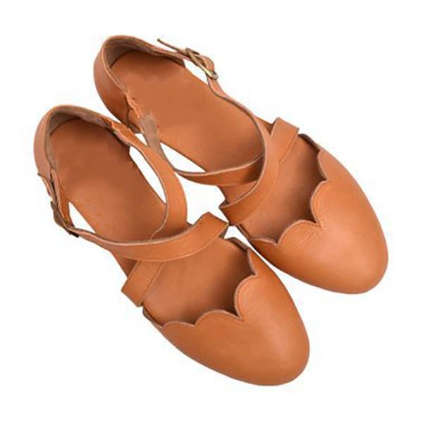 Sweet Flat Round Toe Sandals