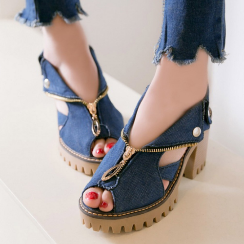 2020 New Fashion Women Summer Genuine Platform Sandals