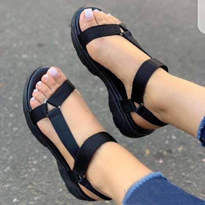 Ladies Strap Plain Colored Sandals