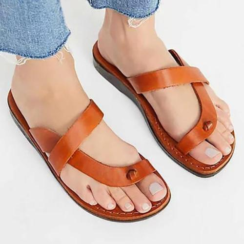 Women PU Slippers Casual Flip Flops Sandals