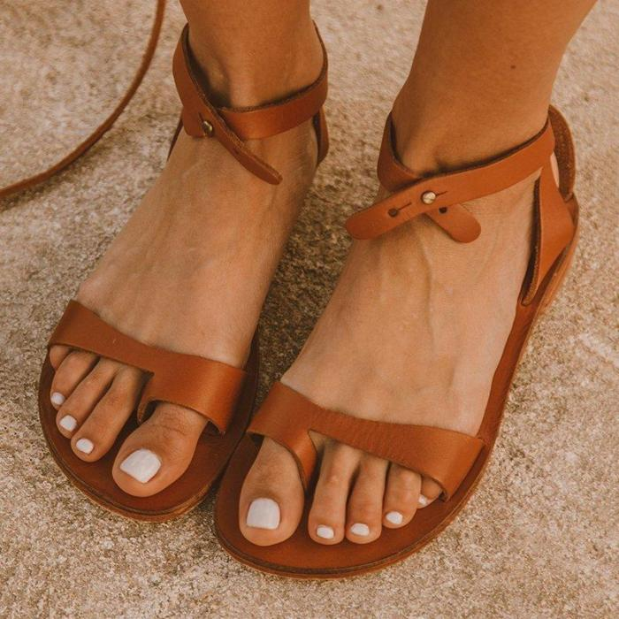 Simple Buckle Open Toe Casual Sandals
