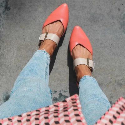 Women Summer Casual Adjustable Buckle Pu Sandals