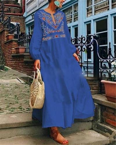 Bohemian Long Sleeve Fashion Summer Holiday Dresses
