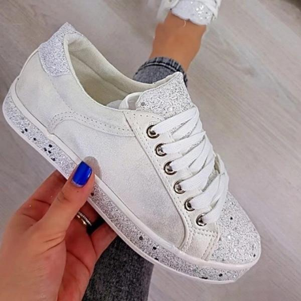 Womens Fashion Colorful Sequins Sneaker