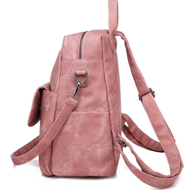 2020 Woman New And Fashional PU Retro Backpack