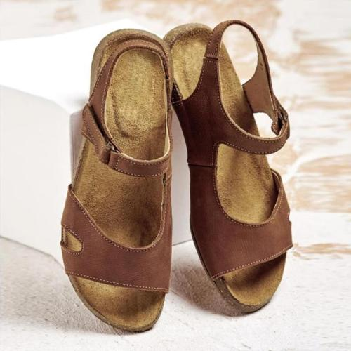 Comfy Magic Tape Sandals Soft Sole Flat Sandals