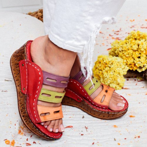Women's Fashion Vintage Boho Wedge Sandals