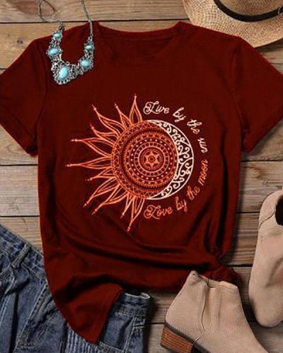 Print Women T shirt Short Sleeve Casual Summer O-Neck Tops Female T-shirts