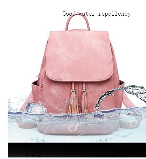 2020 New Fashional Woman Flow Comfort Shape Leather Backpack