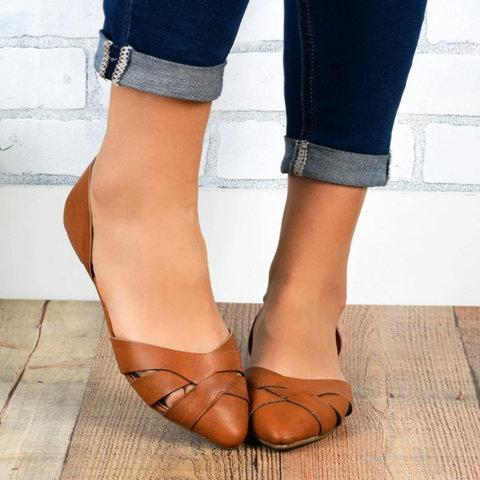 Women's Leather Other Closed Toe Elegant Sandals