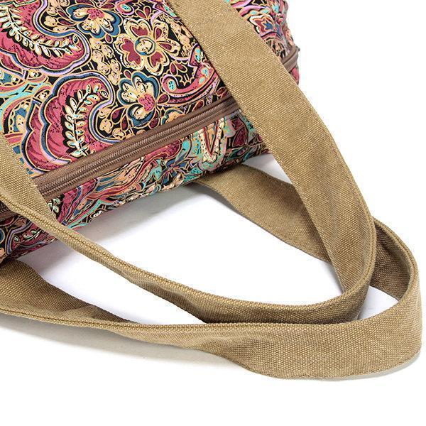 Vintage National Style Canvas Handbag Casual Crossbody Bag