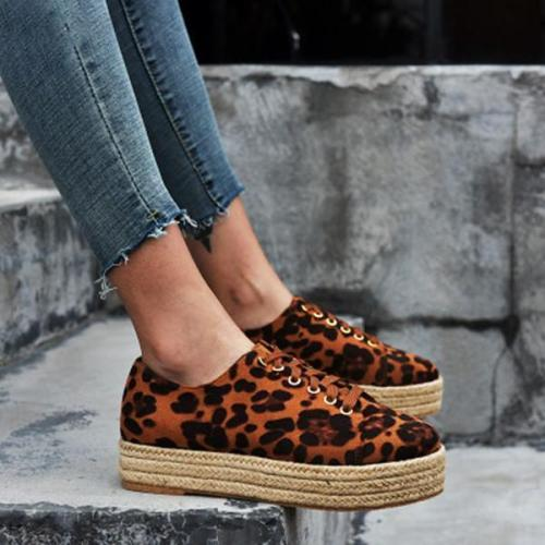 Women Round Toe Lace UP Sneakers