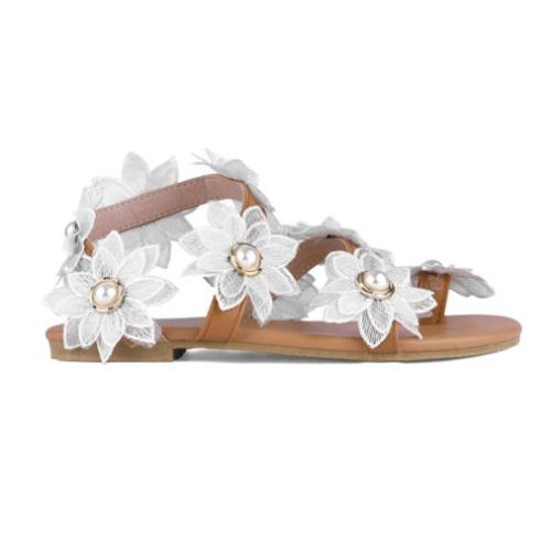 Women's Flat Fashion Flower Light Breathable Simple Sandals