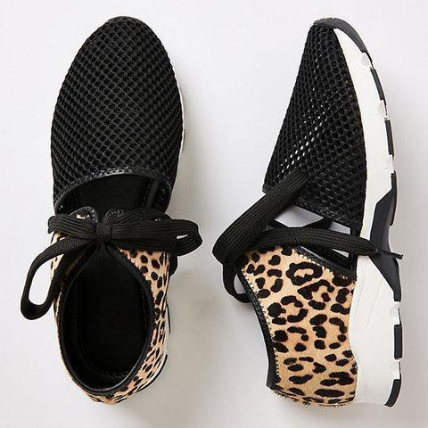 Women Fabric Lace-Up Driving Sneakers