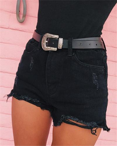 Women's Classic Split Side Denim Shorts