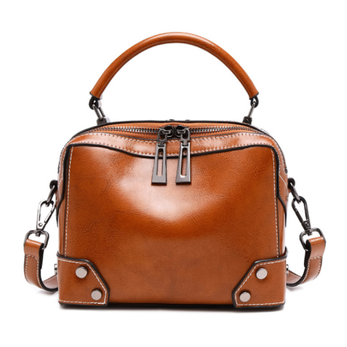 Lokeeda Bag: Woman Easy-matching Leather Handbag Shoulder Bag